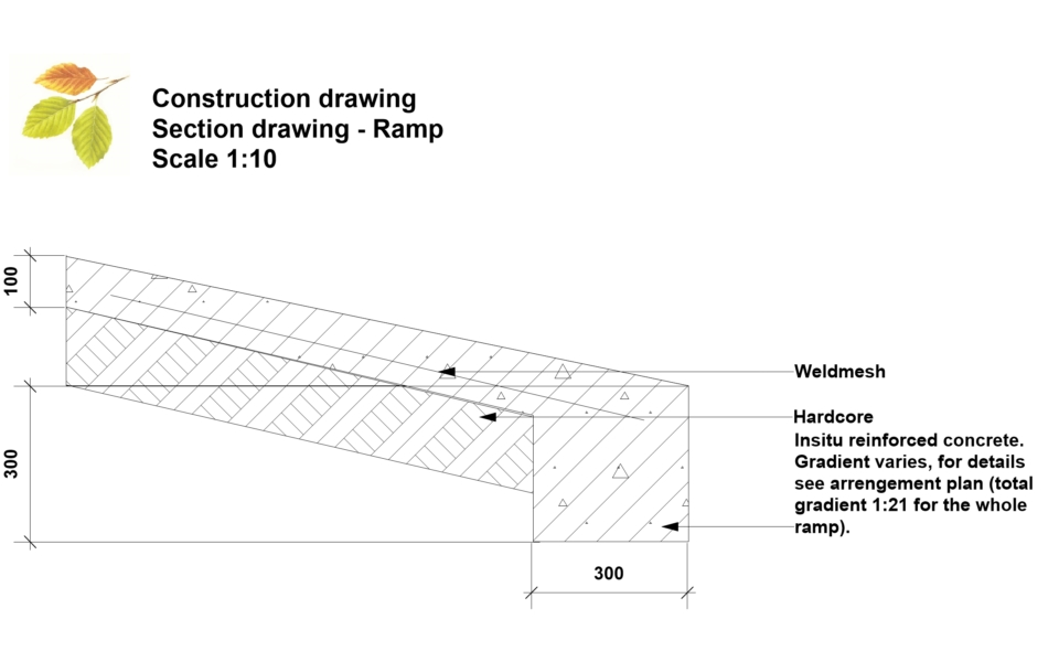 Construction drawing – Ramp