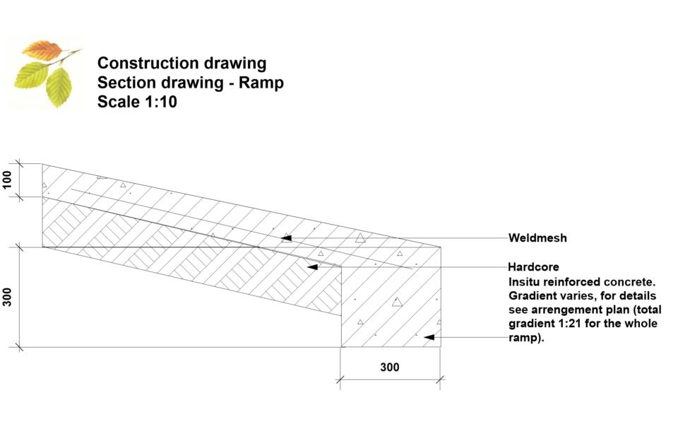 Construction drawing – Ramp